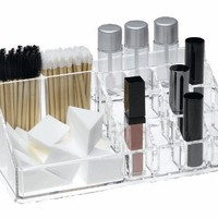 Large Acrylic Cosmetic, Makeup, Beauty Tools and Brush Organizer