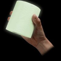 ThinkGeek :: Glow in the Dark Toilet Paper