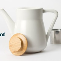 Noble Teapot - Elegant And Modern Teapot With Handsome Wood Lid | DavidsTea