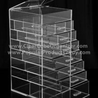 Acrylic Clear Cube Makeup Organizer