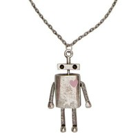 gold tone robot necklace - necklaces / collars - jewellery - women - River Island