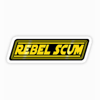 Star wars sticker Rebel scum