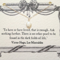 Les Misérables Silver Pearl Necklace