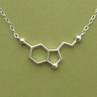 $90.00 serotonin necklace  for happiness  with link by molecularmuse