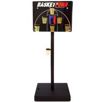 BasketPong Half Court Beer Pong Game Set