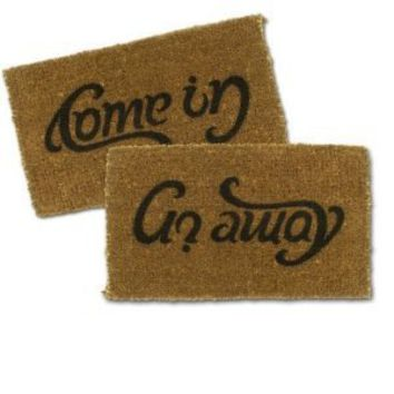 SUCK UK Ambigram Door Mat - Come in, Go Away
