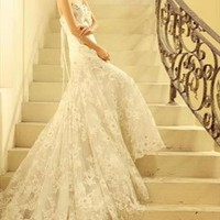 Royal Classic embroidered wedding Dress from WeiweiK