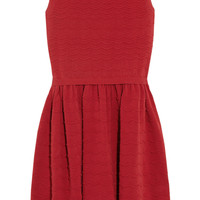 RED Valentino | Scalloped stretch-knit cotton dress | NET-A-PORTER.COM
