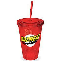 Big Bang Theory Bazinga 16 Ounce Travel Cup w/ Straw