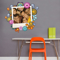 Design Frame with custom photo - decal for housewares