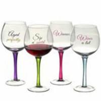 Red Wine Glass (4 Asstd). Glas