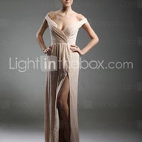 Chiffon Sheath/ Column V-neck Floor-length Evening Dress inspired by Kate Hudson - US$ 178.19