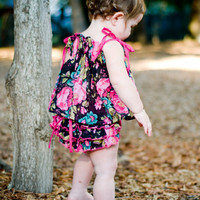 Baby Girl Dress and Ruffled Baby Bloomers diaper by bonbonLand