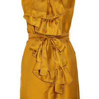 M Missoni Ruffled silk-twill dress - 65% Off Now at THE OUTNET
