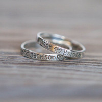 Hand Stamped Ring  Sterling Silver  Custom by SimplySweetStudio