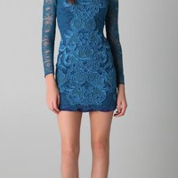 Matthew Williamson Long Sleeve Lace Dress