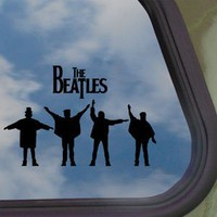 Amazon.com: The Beatles Black Decal Car Truck Bumper Window Sticker: Home & Kitchen
