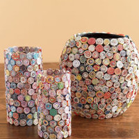 Medium Recycled Paper & Glass Vase - Gaiam
