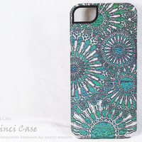 Unique iPhone 5 Tough Case - Ocean Lace - Artistic Turqouise iPhone 5 Cover - Dual Layer Protection Apple iPhone 5 Case