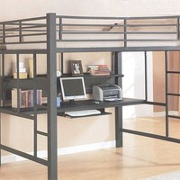 Contemporary Black Loft Bed