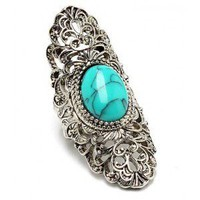 Large Antique Silver Filigree Wrap Ring