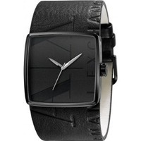 Armani Exchange Leather Strap Black Dial Men&#x27;s watch #AX6002: Watches: Amazon.com