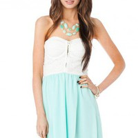 Denise Dress in Mint - ShopSosie.com