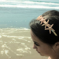 Starfish Tiara Headband - Beach Bridal Hair Accessory - Destination Beach Theme Weddings - Cute Adorable - Elegant Romantic Whimsical Dreamy