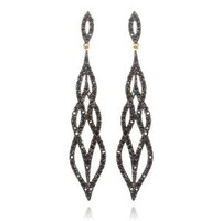 Designer Sexy Dangle Earring with Black CZ: Jewelry: Amazon.com