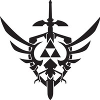 Legend of Zelda Skyward Sword Sticker Black