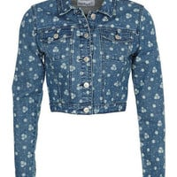 Pin Dot Floral Jacket