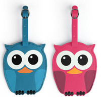 Kikkerland Design Inc   » Products  » Luggage Tags + Whoo Owl Assorted