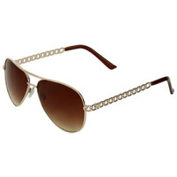 Chain Link Aviator Sunglasses | Shop Accessories at Wet Seal