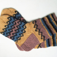 wool SOCKS with Scandinavian pattern - gift WRAPPING for FREE