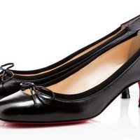 Christian Louboutin Black Leather Neo Mars 45mm - $176