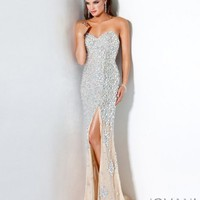 Crystal Encrusted Evening Gown 4247