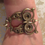 Brass Owl Bangle Bracelet