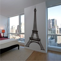 Vinyl Wall Art Decal Eiffel Tower 8 Feet Tall Highly Detailed