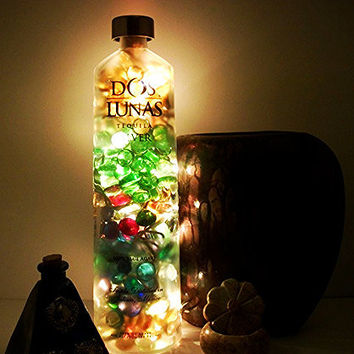 Liquor Bottle Lamp - Up Cycled Liquor Bottle Light - Bottle Accent Light