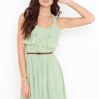 Ruffled Racer Dress in Clothes at Nasty Gal