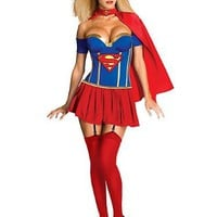 Superhero Supergirl - Sexy Costume - Large