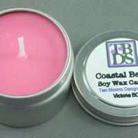 Coastal Berry Soy Wax Candle by 2bloomsdesignstudio on Etsy