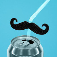 Mustache Straw Topper | Novelty Straw Topper | fredflare.com