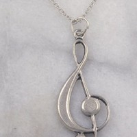 Treble Clef Pendant necklace
