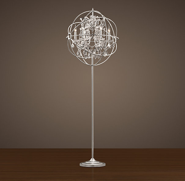 Foucault S Iron Orb Crystal Floor Lamp From Restoration