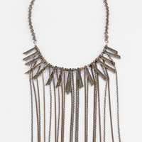 Chains Necklace in Brass :: tobi