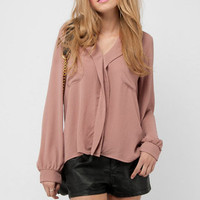 Lepel Pocket Blouse in Dusty Pink :: tobi