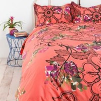 UrbanOutfitters.com &gt; Lace Floral Cotton Percale Duvet