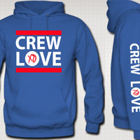 Crew Love Hoodie Sweatshirt Crew Love Tee XO The by TeesGame