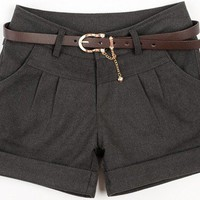 @Free Shipping@ Women Blends Dark Grey Short Pant S/M/L/XL VG3025dg from Voguegirlgo